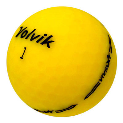 used yellow volvik golf balls
