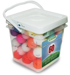 Crystal Mix Grade A Mix Color Used Golf Balls