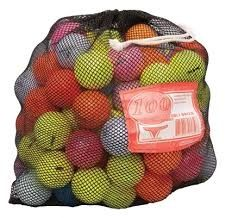 100 Ball Mesh Bag of Color Used Golf Balls | Wholesale Discount Prices