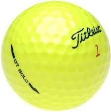 50 Titleist DT Solo Yellow Used Golf Balls