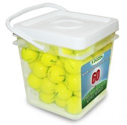 60 Ball Tub Yellow Color Used Golf Balls