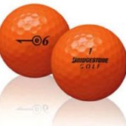 50 Bridgestone E6 Orange Used Golf Balls